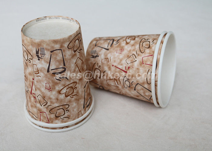 Insulated Paper Single Wall Cool Disposable Coffee Cups With Custom Logo Printed
