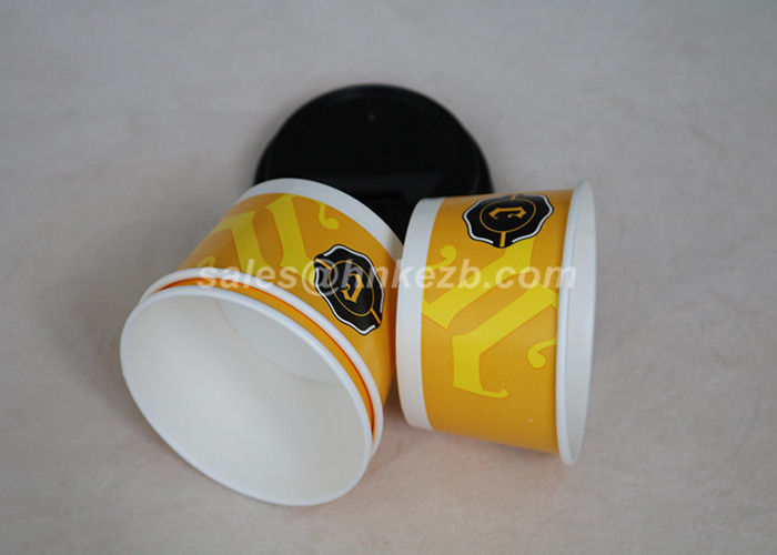 4OZ -12OZ Paper Ice Cream Bowls , Takeaway Ice Cream Disposable Cups