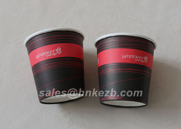 Custom Priiting 6oz Coffee Paper Cups Disposable Single Wall For Coffee